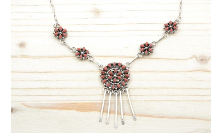 Petit point Zuni Necklace
