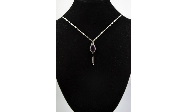 Purple abalone necklace