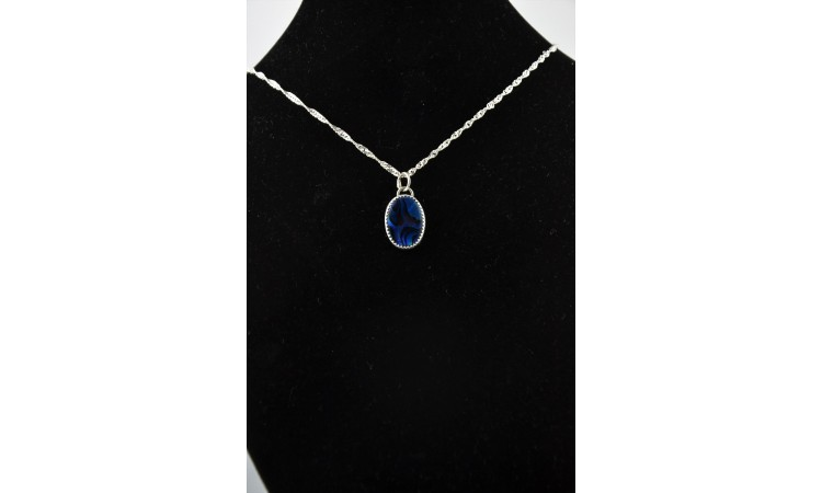 Collier abalone bleue