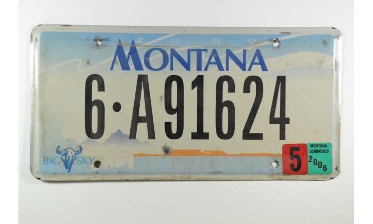 2010 Montana Big sky license plate 6C 5636C