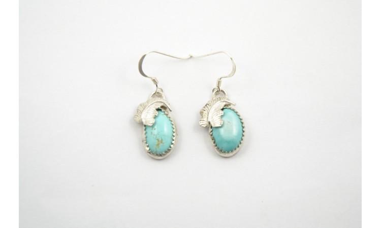Boucles d'oreilles turquoises Royston