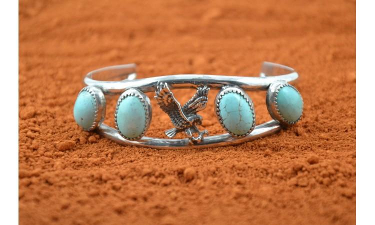 Bracelet aigle turquoises royston