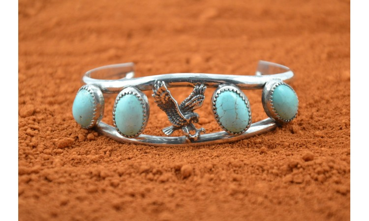Eagle and royston turquoise bracelet