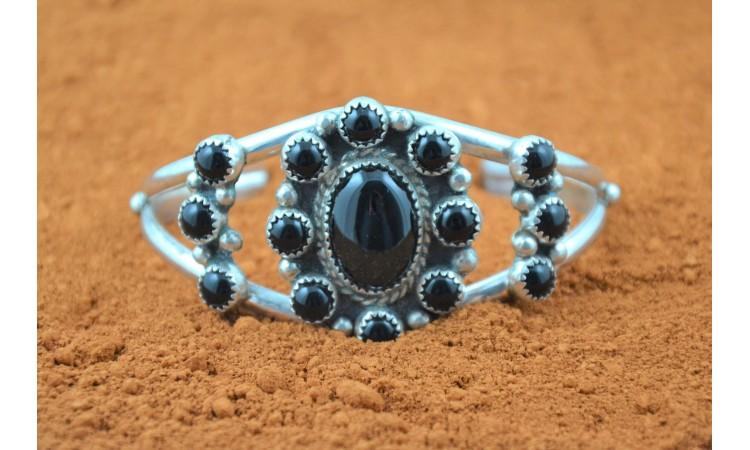 Bracelet amérindien onyx