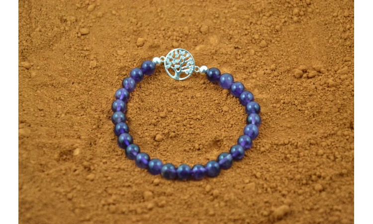 Amethyste and tree of life bracelet