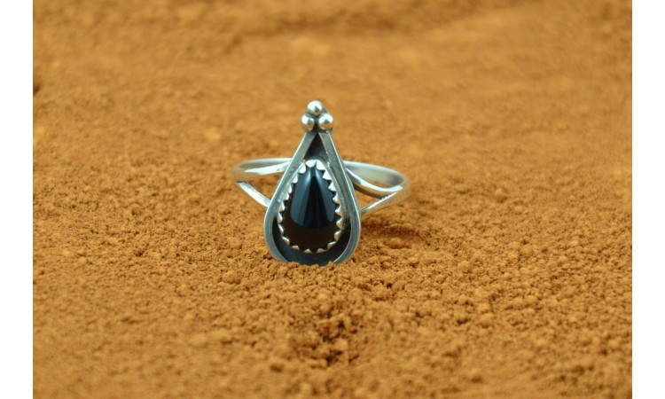 Bague Zuni onyx taille 51