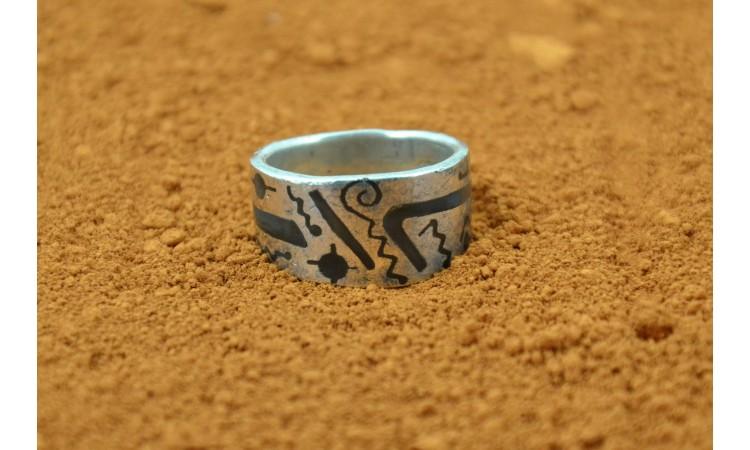 Bague Navajo symboles taille 52,5