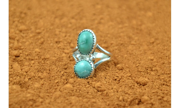 Native american royston turquoise ring