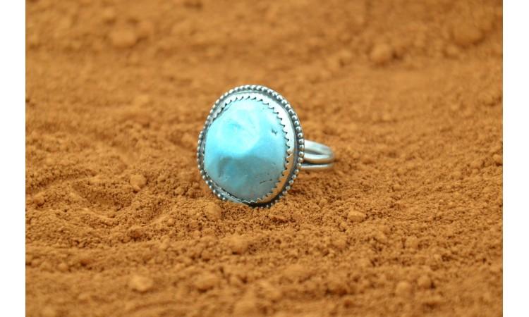 genuine kingman turquoise ring