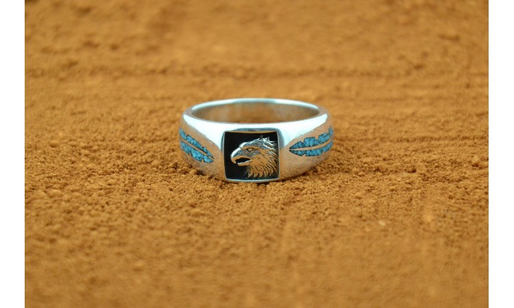 Eagle and Feather Ring Size 12 3/4