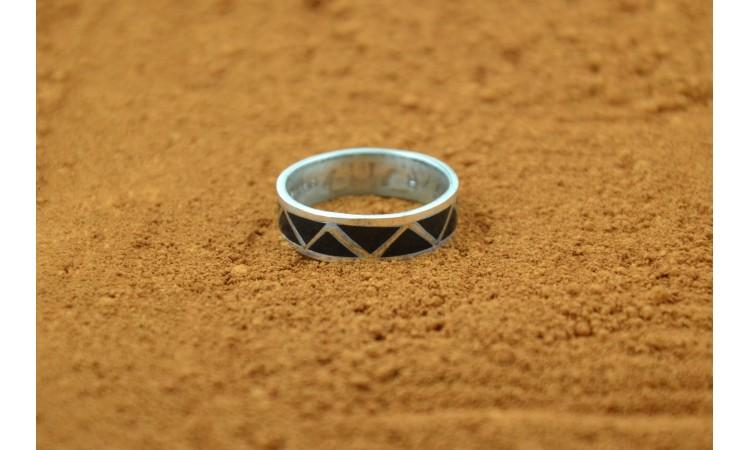 Native american black onyx ring size 8,75