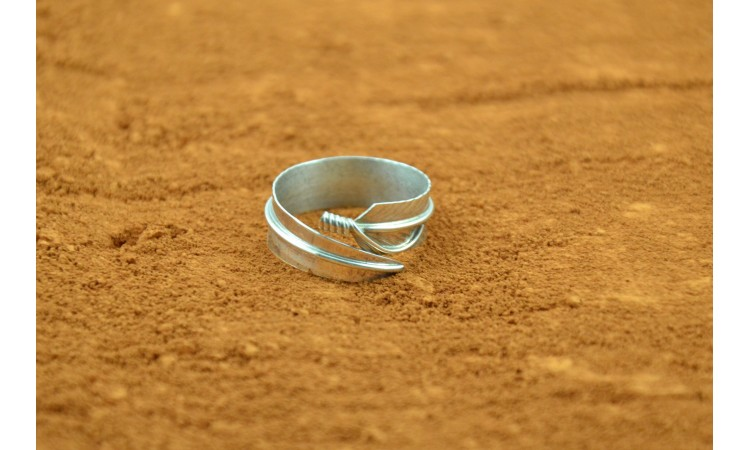 Bague plume Taille 56