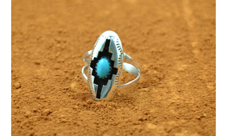 Bague Navajo turquoise taille 58