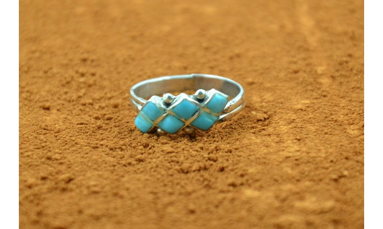 Zuni turquoise ring Camille Lamy