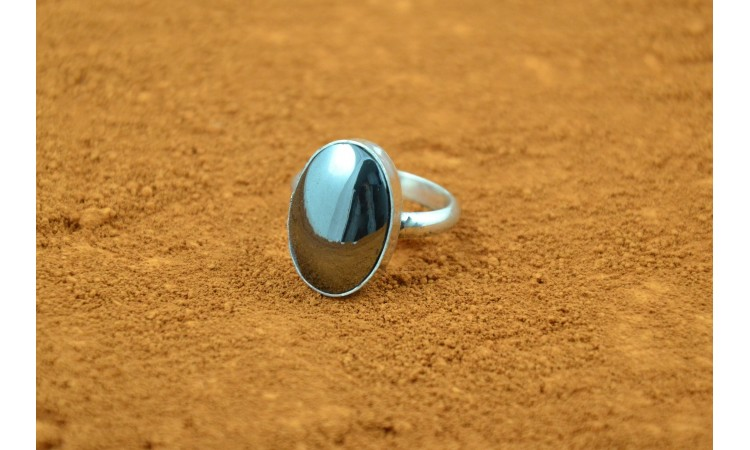 Hematite ring
