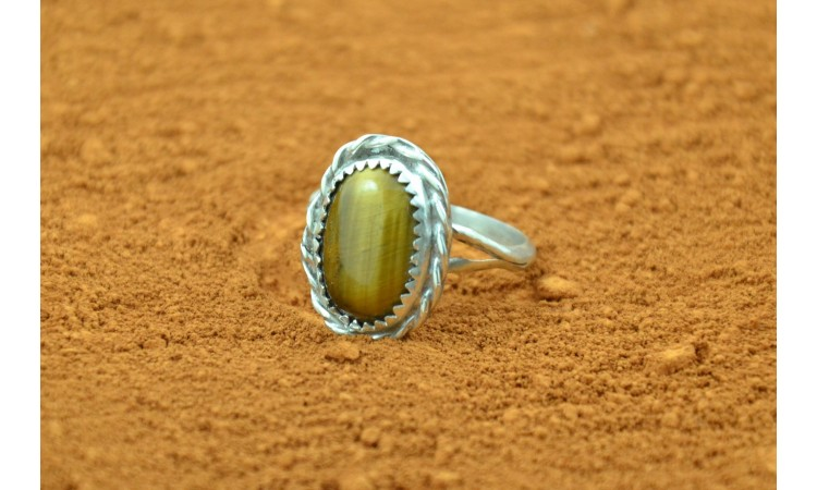 Native american tiger eye ring