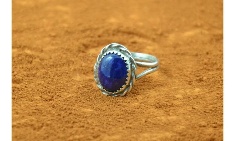 Bague amérindienne lapis lazuli