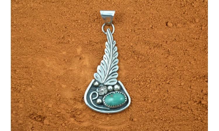 Pendentif turquoise royston