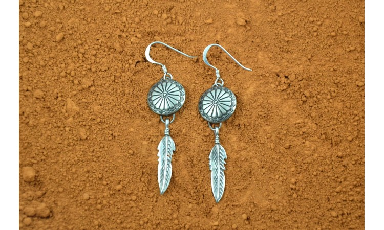 Native american conchos earrings