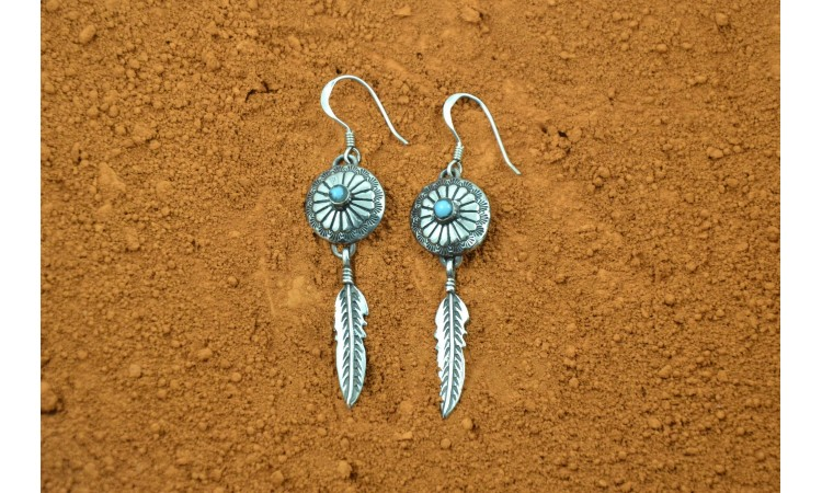 Conchos native american earrings