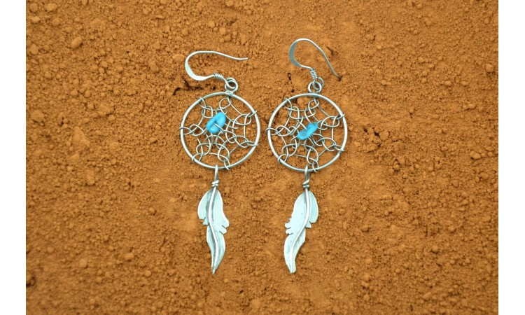 Dreamcatcher earrings Lorenzo Arviso