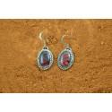 Boucles d'oreilles abalone rouge