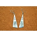 Bear claw navajo earrings