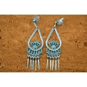 Boucles d'oreilles turquoise Paula Armstrong
