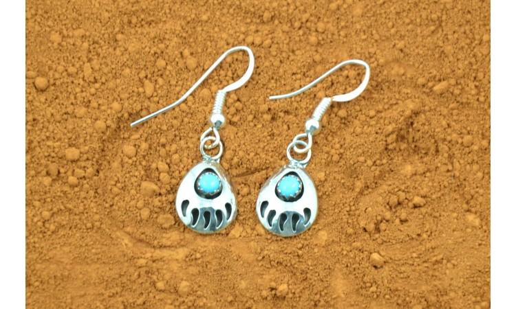 Bear paw Navajo earrings Gaynell Parker