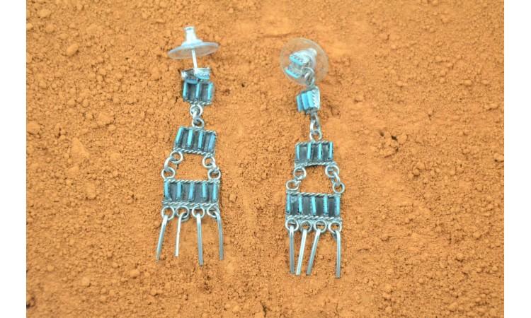 Zuni Needle Point Turquoise Earrings