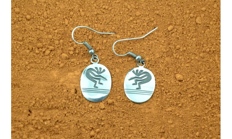 Kokopelli Navajo Earrings Stanley Gene
