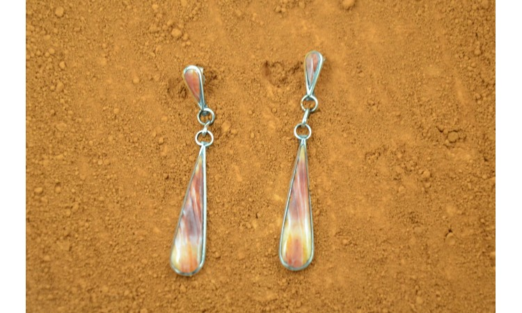 Boucles d'oreilles Zuni Spiny Oyster-Ashebary Gasper