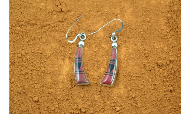 Boucles d'oreilles Navajo Albert Tsosie