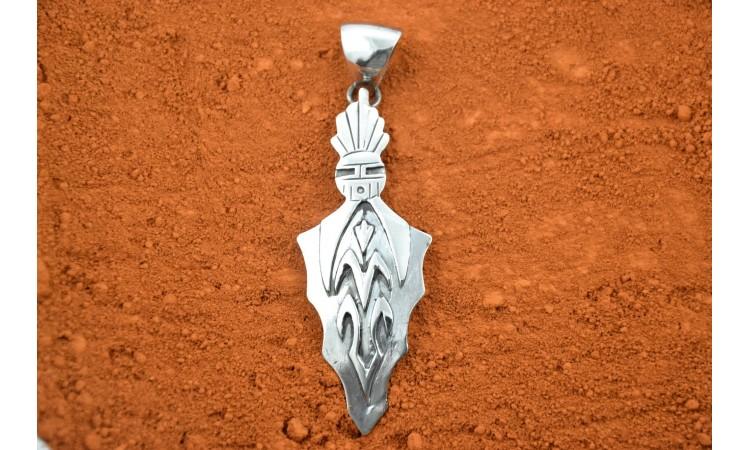 Hopi pendant sun and corn