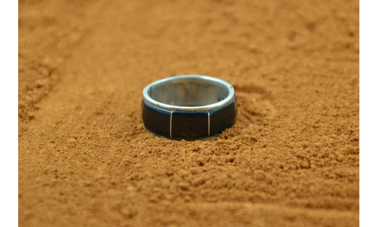 Navajo black onyx ring size 8 1/4
