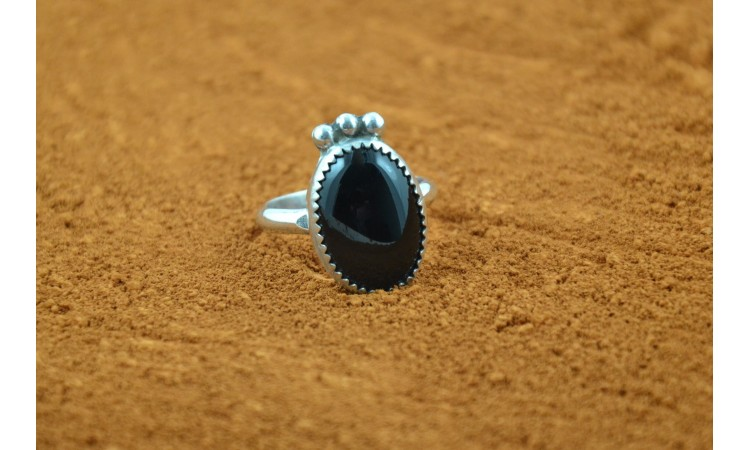 Bague onyx taille 60