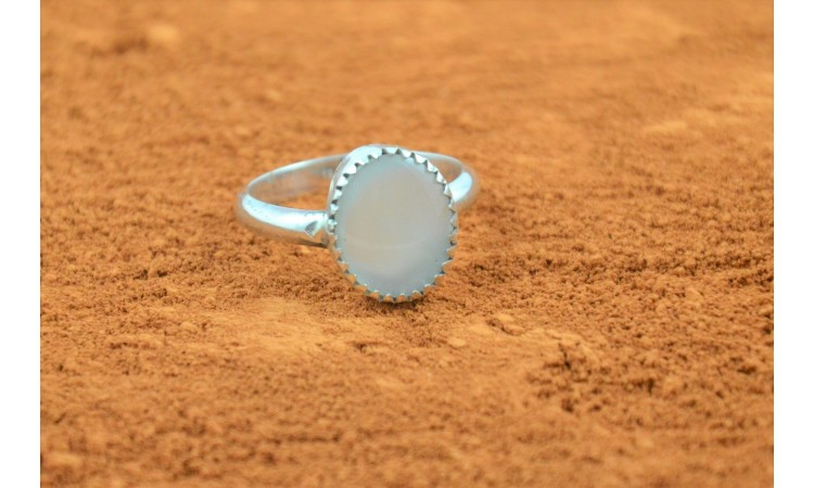 Mother of pearl native american ring