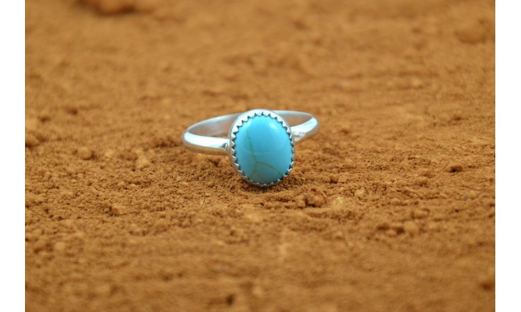 Howlite native american ring