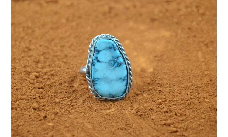 Sleeping beauty turquoise ring size 8,5