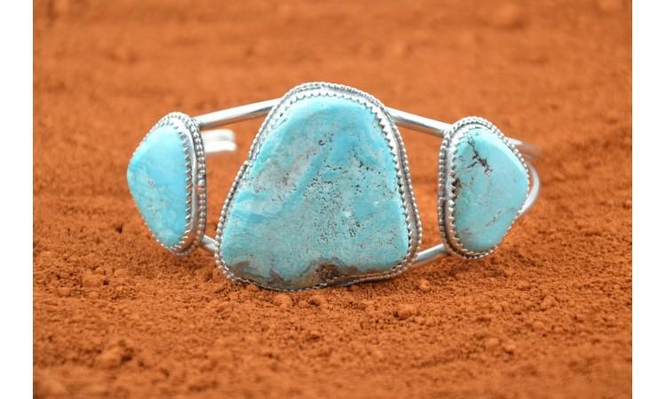 Bracelet amérindien turquoises