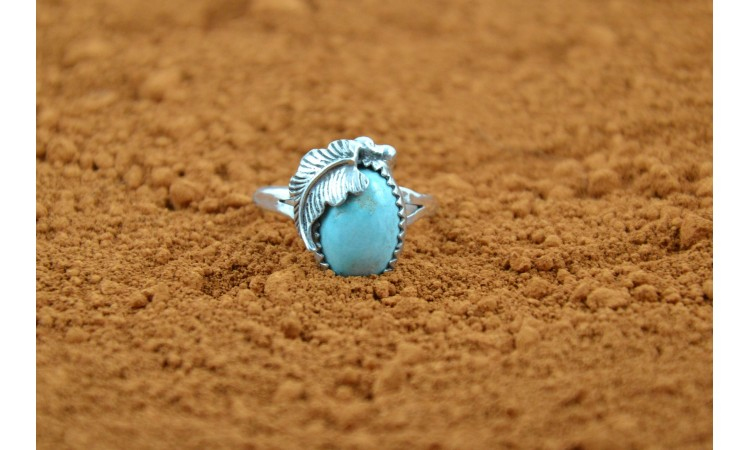 Bague Navajo turquoise Royston taille 63