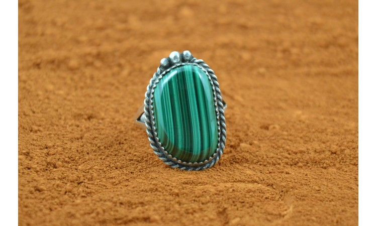 Bague malachite