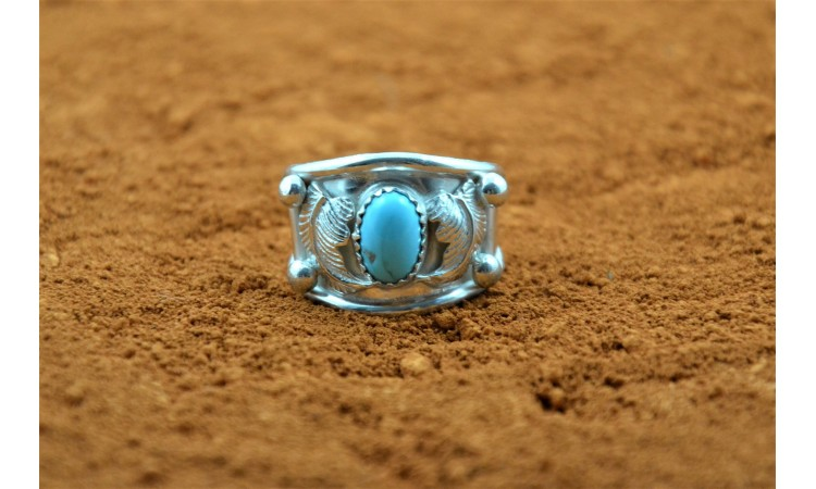 Bague amérindienne turquoise taille 56