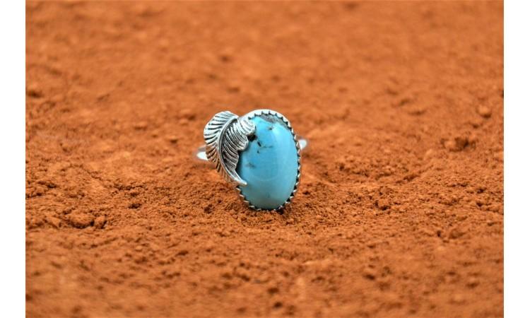 Bague turquoise d'arizona