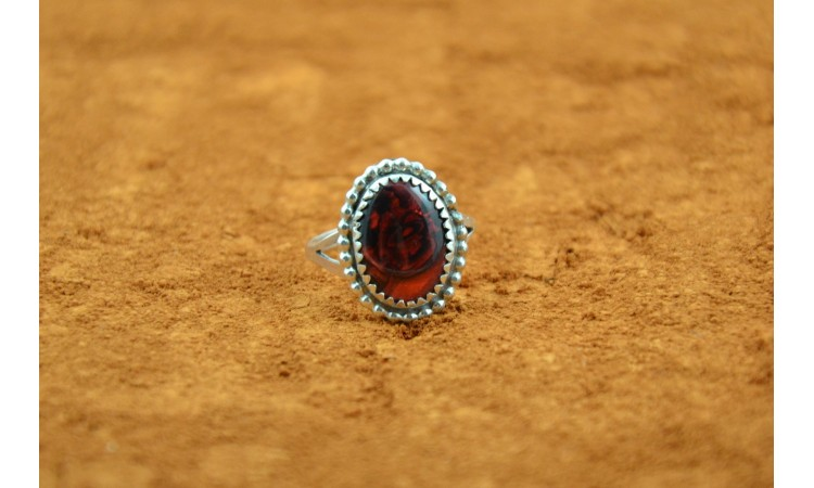 Bague abalone rouge