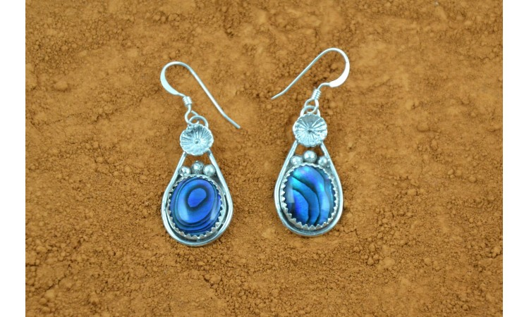 Blue abalone earrings