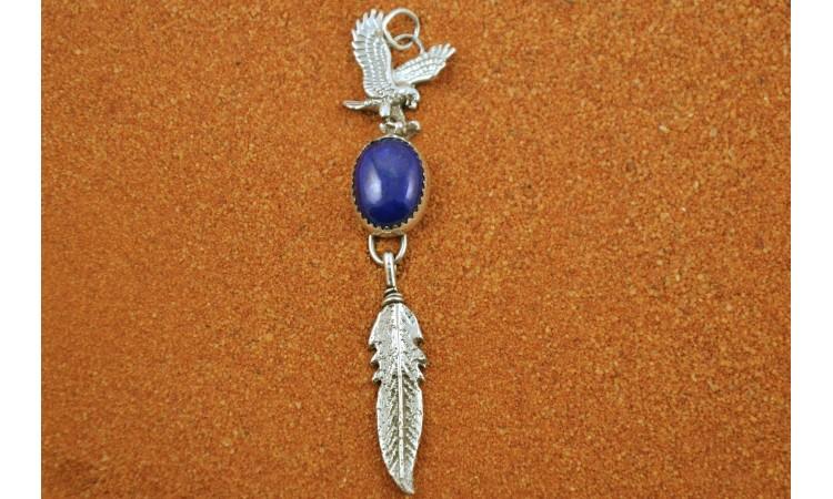 Eagle and lapis lazuli pendant