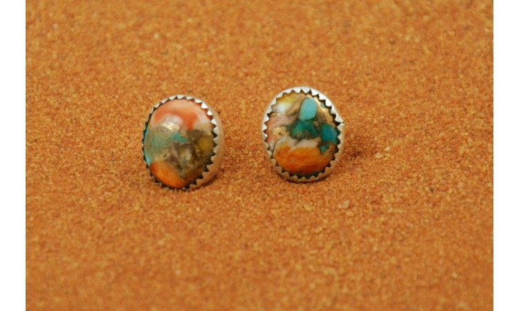 Boucles d'oreilles turquoise mojave