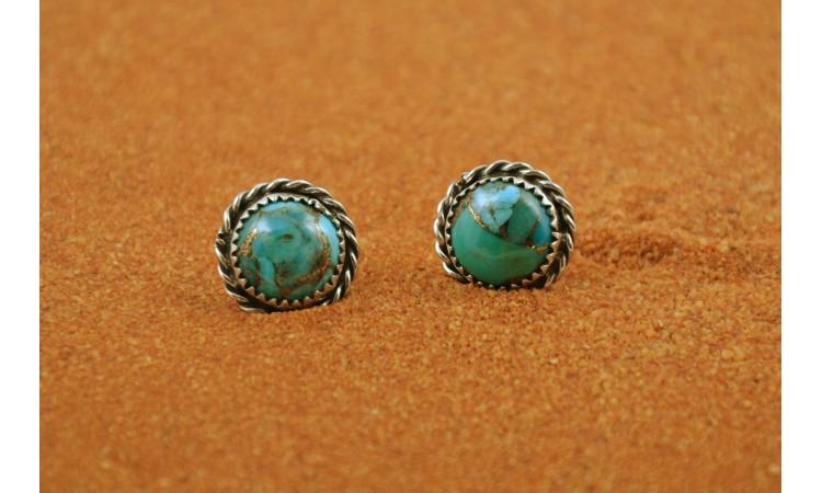 Boucles d'oreilles turquoise mojave