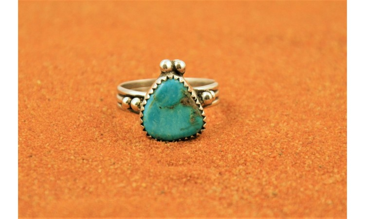 Bague turquoise kingman